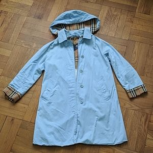 Burberry Authentic Sky Blue Trench Coat